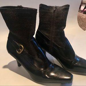 Franco Sarto brown heeled boots size 10